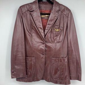 Etienne Aigner Jacket Leather Vintage Coat